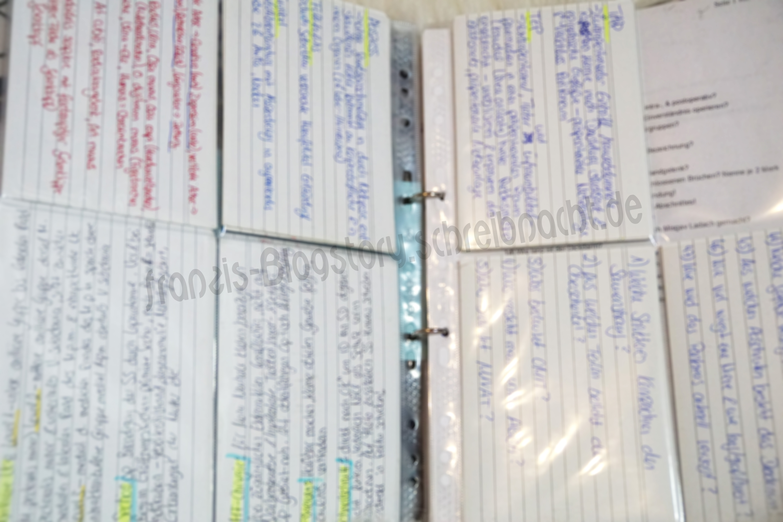 Dies ist nur ein kleiner Teil meiner ganzen Karteikarten, die ich mir damals für die Abschlussprüfung zur OTA geschrieben habe.