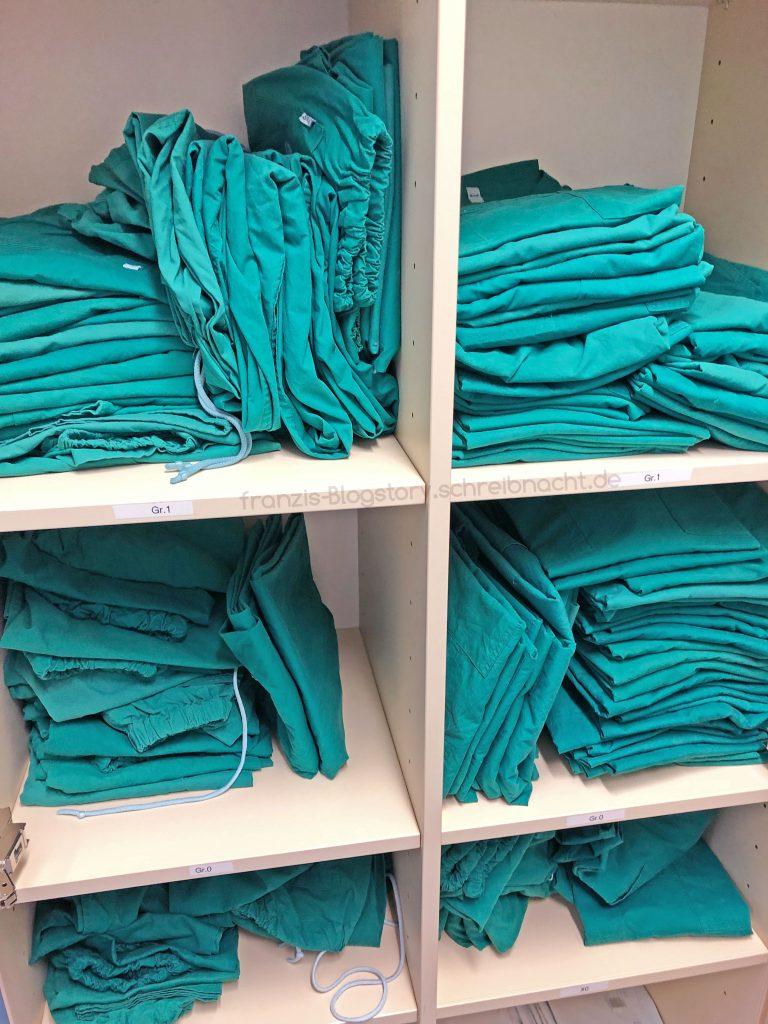 Grüne Kleidung - auch das richtige Einschleusen ist bei der praktischen Prüfung sehr wichtig!