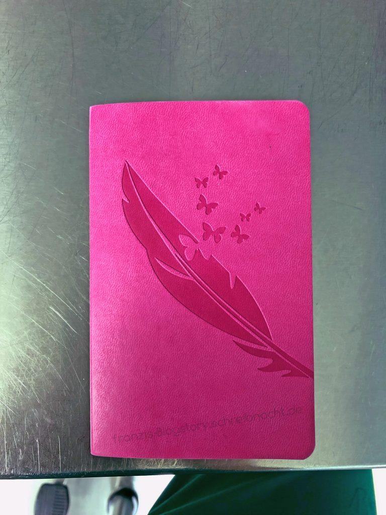 Mein Notizbuch für die ganzen OPs. franzis-Blogstory.schreibnacht.de